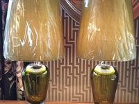 Kensaku Glass Table Lamp with Empire Shade