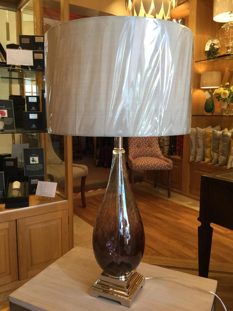 Tall Ambre Lamp