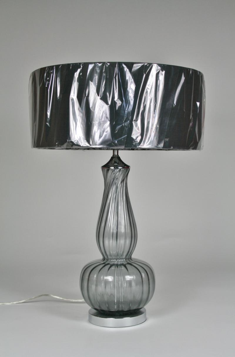 Glass table lamp with grey shade best inspiration for table lamp 21 homepage primrose plum glass ball table lamp and grey shade geotapseo Images