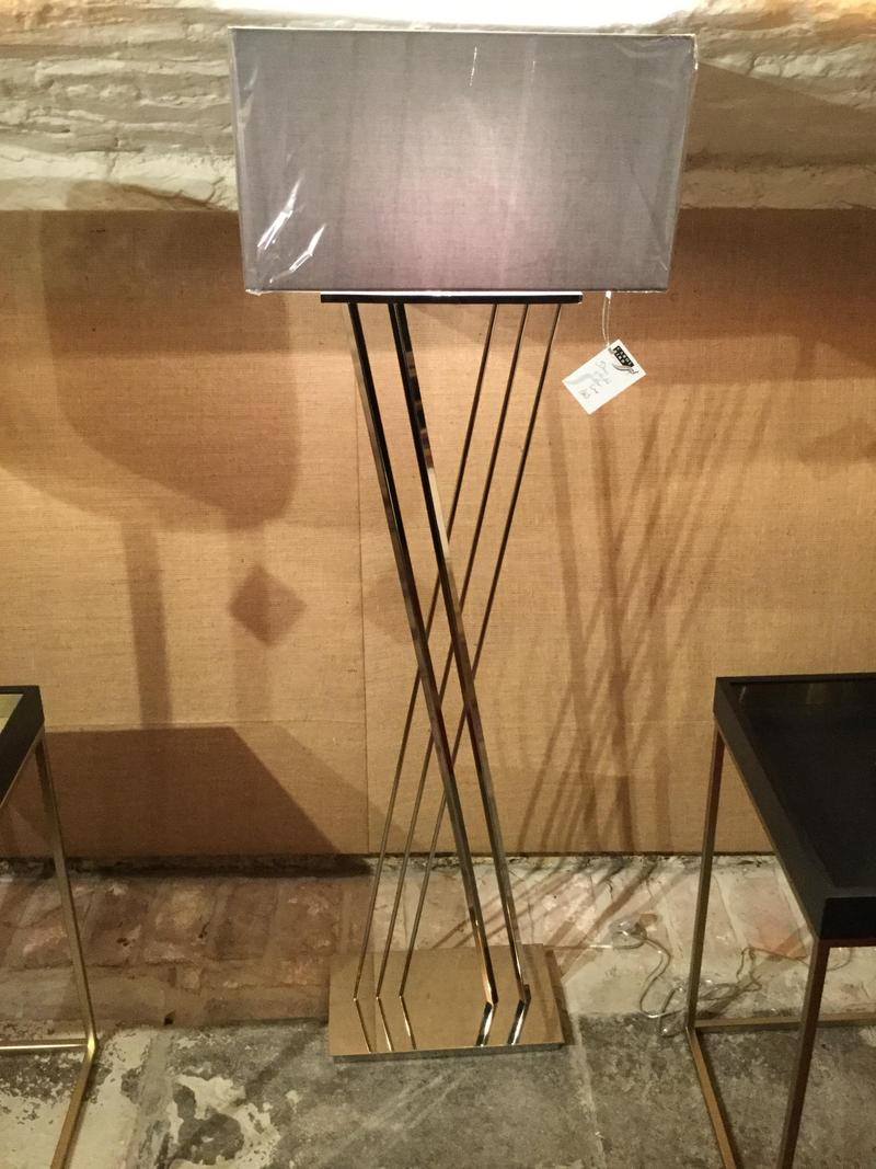 Deco Nickel Floor Lamp